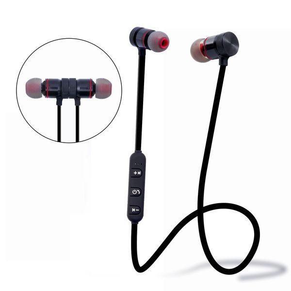Auricolare stereo magnetico Cuffie Bluetooth Auricolari con microfono per smartphone M102 Mini sport wireless magnetico Bluetooth per lettore di giochi