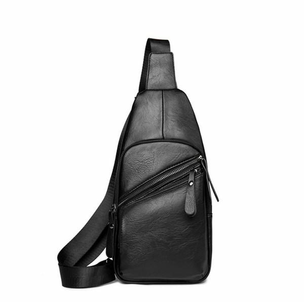 Waist Bags Crossbody Men Shoulder Bag PU Leather Vintage Travel Bum Belt Pouch Fanny Pack Waist Packs Purse Messenger Bags BA230