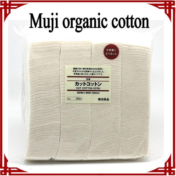 [big sale] Bio-Baumwolle japanische muji Baumwolle 180pcs ungebleichte Baumwolle Pad Wick Nature Cotton für rda rba Zerstäuber Spule Make-up Baumwolle