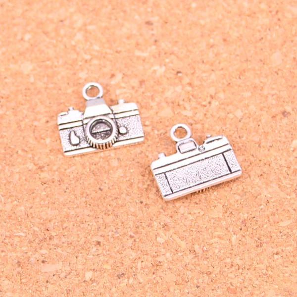 160pcs Antique silver Charms camera Pendant Fit Bracelets Necklace DIY Metal Jewelry Making 15*14mm