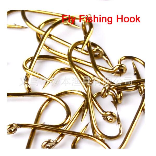 New 100pcs Lot Fly Hook Fishing Hooks 8//12//14//16 Size fishhook Freshwater Bass