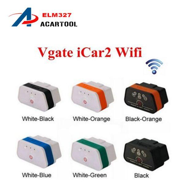 Original Vgate WiFi iCar 2 OBDII ELM327 iCar2 wifi vgate OBD diagnostic interface for IOS iPhone iPad Android Vgate iCar 2 WIFI