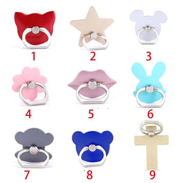 wholesale Fashion Universal Mobile Phone Ring Stent Cell Phone Ring Holder Finger Grip with Free Hook for Car Using Phone Stand 100pc CPR001
