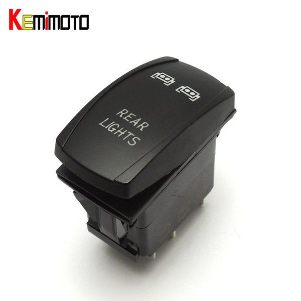 Wholesale- KEMiMOTO Rocker Rear LED Light UTV OFF ROAD Switch for JEEP SUV BOAT RV for John Deere Gator XUV for Polaris RZR 800 1000 900