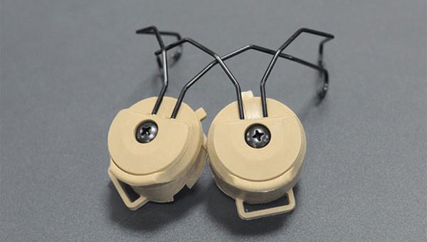 Accesorios para el casco táctico Sordin Type Headset Holder Adaptador de riel de casco rápido Peltor MSA SORDIN Headset Ops-Core Casco ARC Rail Adapter