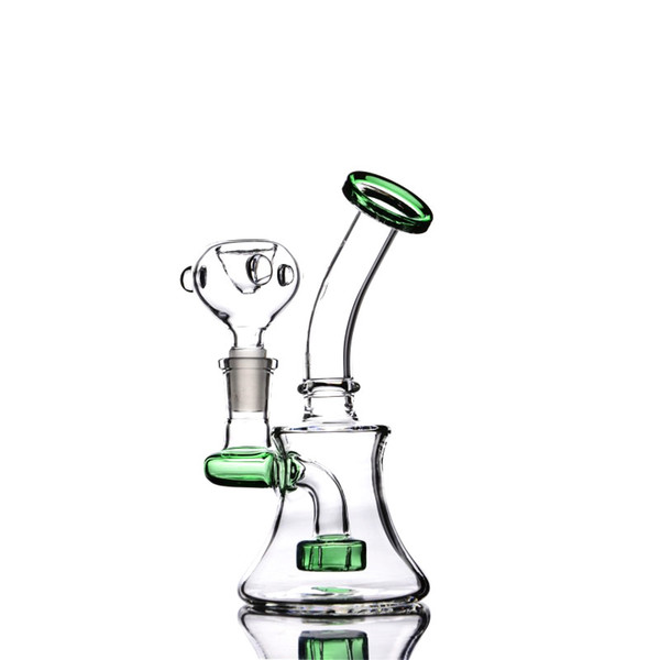 Small Bongs for Sale with Barrel Percolator Portable Dab Oil Rigs 6 Inches and 14mm Joint