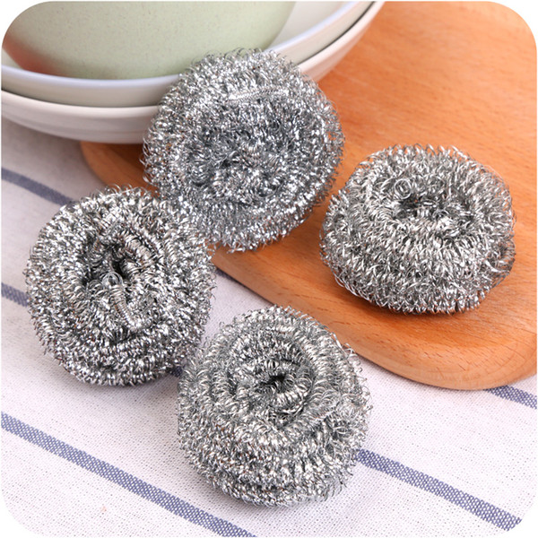 4pcs Pack Soft Essential Stainless Steel Cleaning Ball Kitchen Cleaning Wire Ball for Washing Bowl or Pan