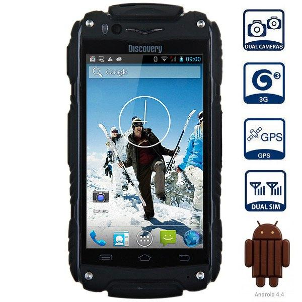 "Discovery V8 3G SmartPhone waterproof shockproof 4.0"" IPS Android 4.4 MTK6572 Dual Core 5.0MP Dual Sim WCDMA WIFI cell phone"