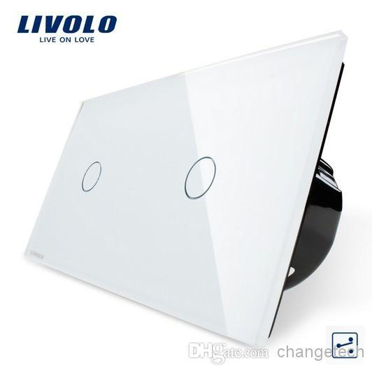 New EU Standard, Ivory White,Double Control Touch Screen, Tempered Glass Panel, Light Wall Home Switch, VL-C701S-11/VL-C701S-11