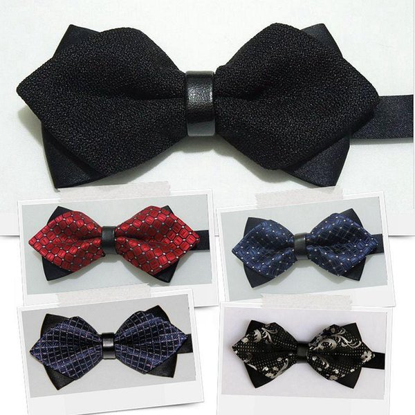 Jacquard bow ties 12*6cm Arrow bowknot 1200`Knitted 40 colors Men's Neck Tie Occupational tie for Father's Day tie Christmas Gift