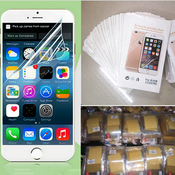 Clear film Screen protector guard protectors sticker film with retail package clean cloth for the iphone 4 4S 5 5S 5C 6s plus iphone 7 plus
