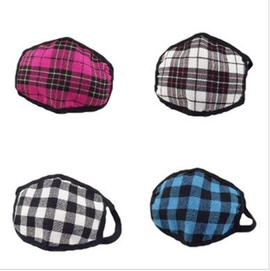 Hot sale Plaid Anti-dust Wind plaid Mouth Mask Face Masks Respirator free shipping