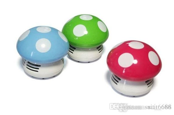 Authentic colored mushrooms electric vacuum cleaner dust Desktop / Desktop Vacuum Cleaner / mini vacuum cleaner cartoon