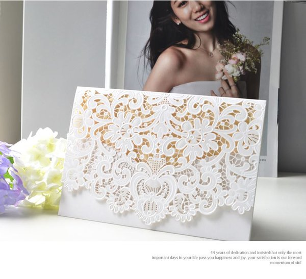 laser cut lace white gold red Best Selling Wedding Invitations Cards Birthday Business Party Invitations Cards, Samples