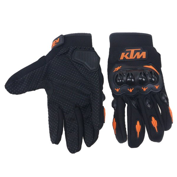 Wholesale- Popular Full Finger Motorcycle Gloves Motocross Luvas Guantes Green Orange Moto Protective Gears Glove for riders