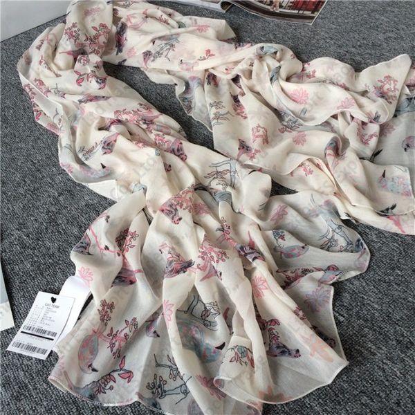 الكورية نمط الأوشحة فروع صغيرة الرعوية الطازجة من العقعق المرأة شتاء جديد وشاح شال 100x180 سنتيمتر 2 الألوان