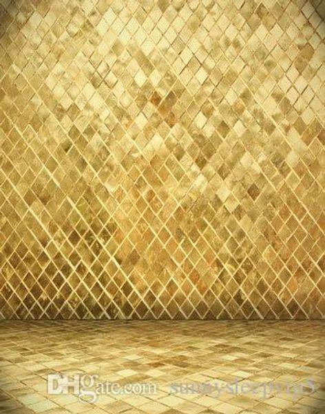 Golden Wall 5x7ft Digital Printing Studio Backdrops Vinyl Photography Lighting Print Cloth Prop Photo Backgrounds