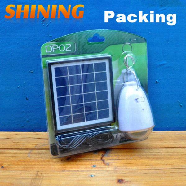2 pçs / lote Atacado Painel Solar de Energia LED Acampamento Casa de Emergência Droplight Lâmpada de Iluminação Lâmpadas Solares