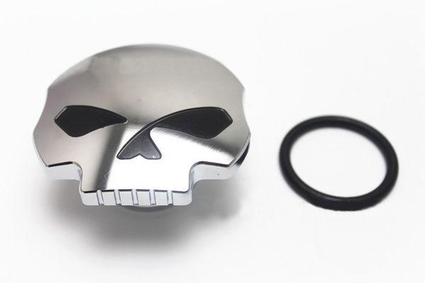 top popular Chrome Black Skull Motorcycle Fuel Tank Cap For Harley Sportster Dyna Softail FXD FL XL FLT 2021