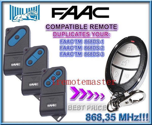 Faac Garage Door Remote Tm 868ds 1tm 868ds 2tm 868ds 3 Picklock