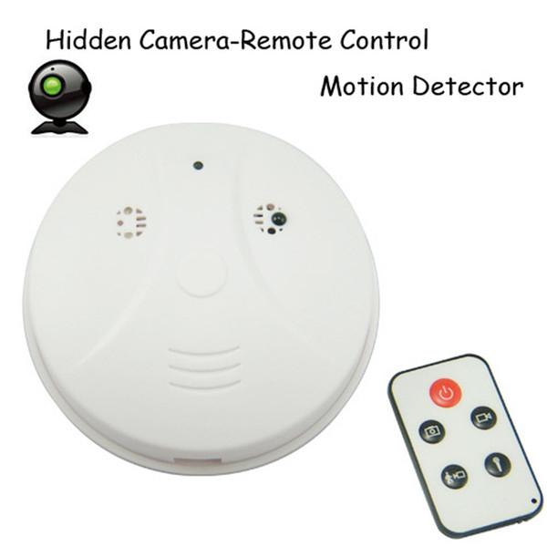 Free Shipping Smoke Detector camera with motion Detection DVR Camcorder DV + Remote White HD Smoke DVR
