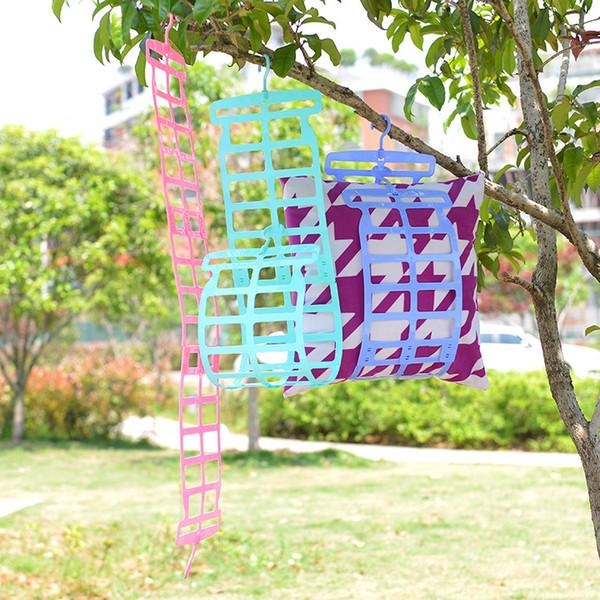 Top Qualität Doppelhaken Praktische Trockenkissen Rack Kissen Plüschtier Wäscheständer Pullover multifunktions Kleiderbügel B0680