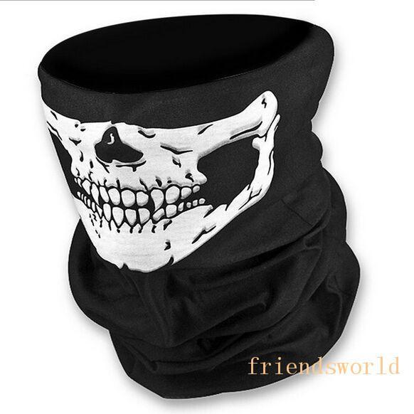 Hot Selling Skull Design Multi Function Bandana Ski Outdoor Sport Motorcycle Biker Scarf Face Mask CS Cosplay Skull Magic Scarf