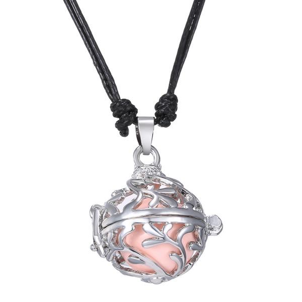 Engel Anrufer Sound Chime Liebe Pflanze Blume Hohl Medaillon Anhänger Halskette Mit Einem Glockenspiel Ball 2016 Mode Mexikanischen Bola