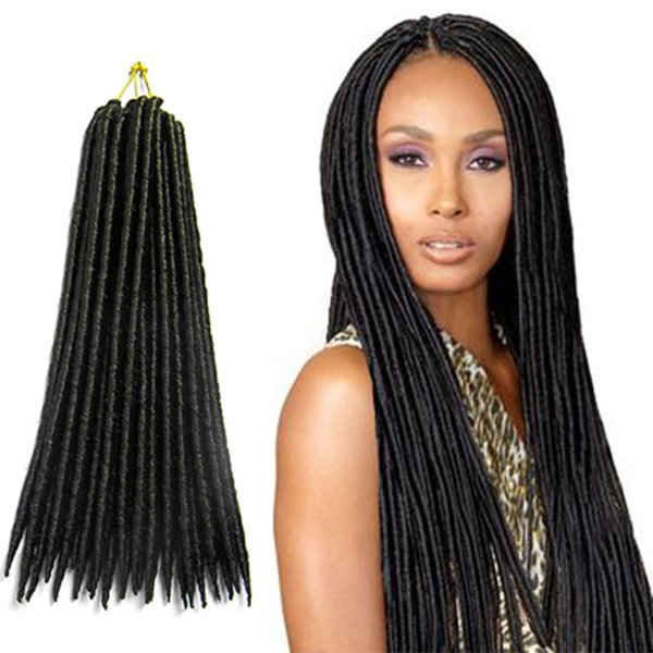 high quality fake dreads faux locs dreadlocks super elasticity