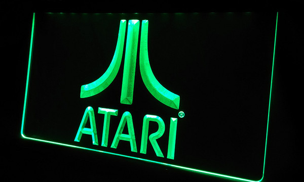 LS364-g Atari Jogo PC Logo Gift Neon Light Sign