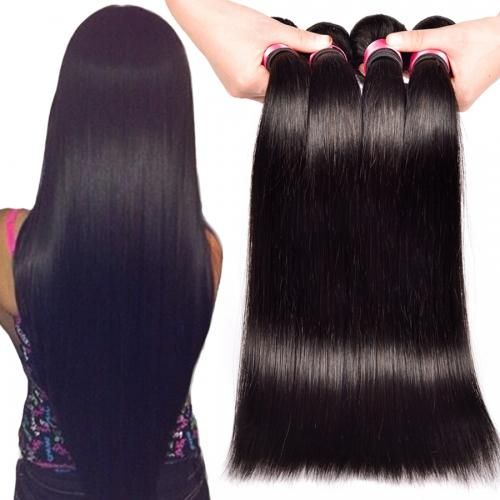 8A High Quality Malaysian Straight Hair Unprocessed Human Hair Extensions 8-30inch Natural Black Color Full Dyeable 5pcs/lot Free Shipping