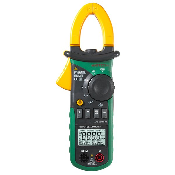 Wholesale-Mastech MS2208 Harmonic Power Clamp Meter Tester Multimeter Trms Voltage Current Power Phase Angle Test