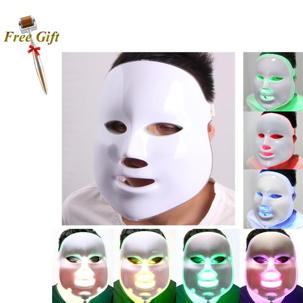 7 Color Skin Care Skin Rejuvenation PDT LED Light Therapy Mask LED Light Therapy Photodynamics PDT Beauty Machine+ Derma Roller