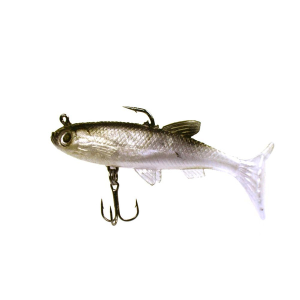 New 5Pcs 8.5cm 14g Sea Soft Fish Bait Lead Head Carp Fishing Lures Bass Sharp Treble Hook T Tail Fishing Tackle