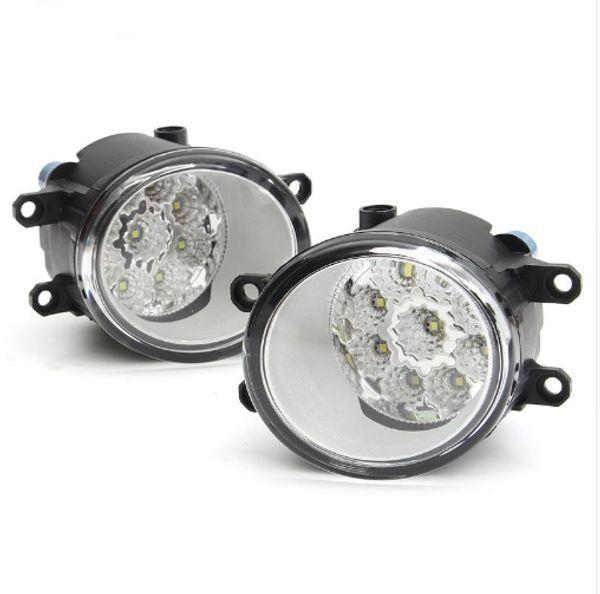 2Pcs Round Front Fog Light Lamp DRL Daytime Driving Running Lights For Toyota/Corolla/Camry/Yaris/Vios/RAV4