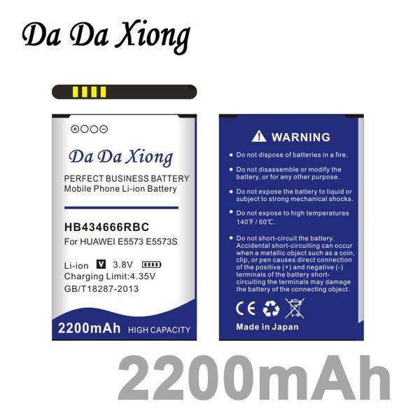 top popular Da Da Xiong 2200mAh HB434666RBC Battery for Huawei E5573 E5573S E5573S-32 E5573S-320 E5573S-606 E5573S-806 2019