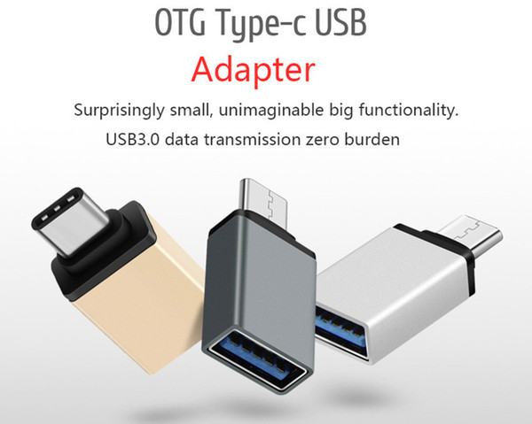 best selling Metal USB 3.1 Type C OTG Adapter Male to USB 3.0 A Female Converter Adapter OTG Function for Macbook Google Chromebook