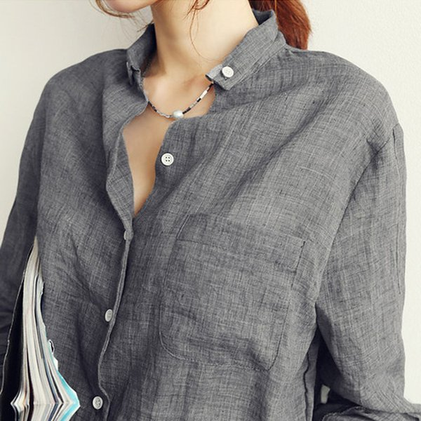 Vetement Femme Ropa de mujer Tops para mujer Blusas de moda Blusas femeninas Blusa de lino Camisa blanca Tallas grandes Roupas