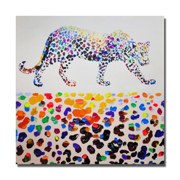 Léopard Peinture sur Toile Décor À La Maison Salon Mur Photos Peint À La Main Peinture À L'huile Mur Art Photos Non Encadrée