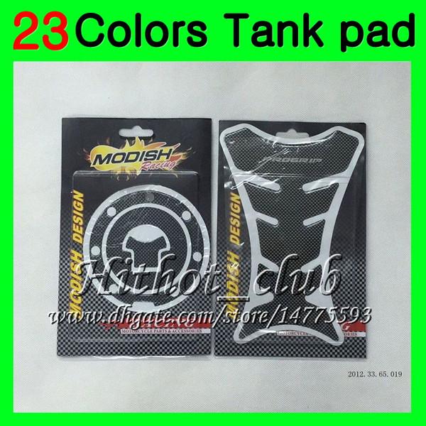 23Colors 3D Carbon Fiber Gas Tank Pad Protector For HONDA CBR954RR 02 03 CBR900RR CBR 954 RR 900RR CBR954 RR 2002 2003 3D Tank Cap Sticker