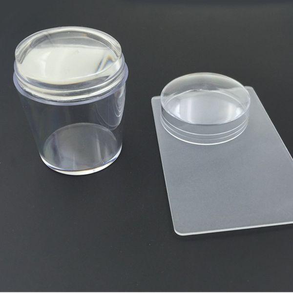 3,8 см ручка 4 см прозрачная печатающая головка с полным проникновением маникюр Маникюр крышка печать, супер прозрачное уплотнение