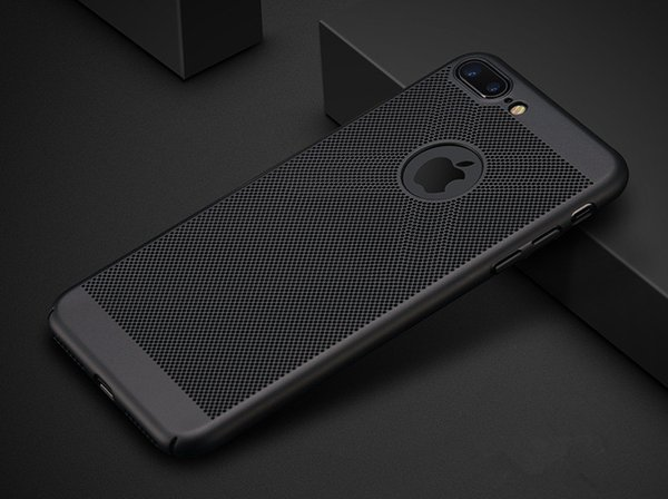 Heat Dissipation Case For iPhone X 8 7 6 6S Plus 5 5S SE Hollow Mesh hard back Cases Free shipping