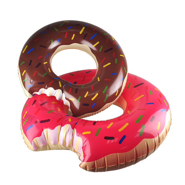 top popular Outdoor Donut Pool Inflatable Floats Pool Toys Swimming Float 90cm 120cm Floats Inflatable Donut Swim Ring Summer Gear Water Toy 2506007 2019