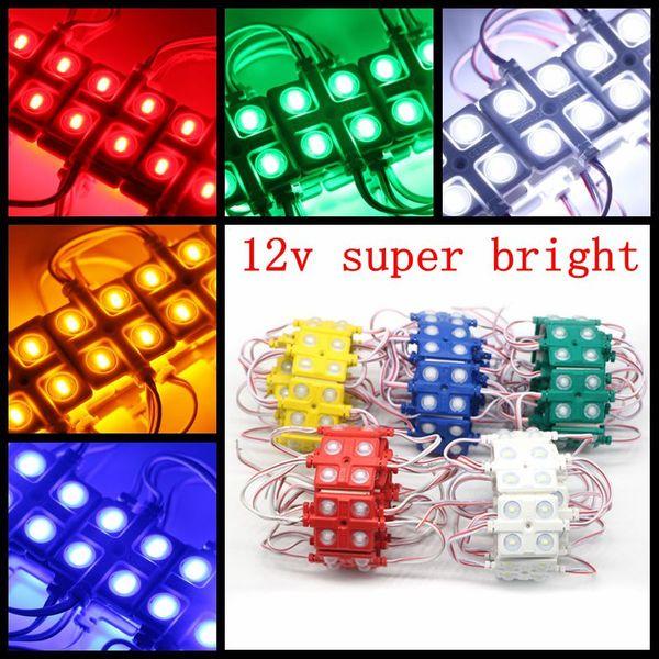 Wholesale-100Pieces 5730 4 LEDs Lens Ile Enjeksiyon Led Modülü, Renkli ABS Kabuk, DC12V, 5630 LED Modülü, Su Geçirmez IP65 4led Modülü