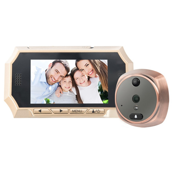 4.3inch wireless door peephole camera IR Night vision PIR Motion Detection video peephole Photos Taking Video Recording Max 32GB