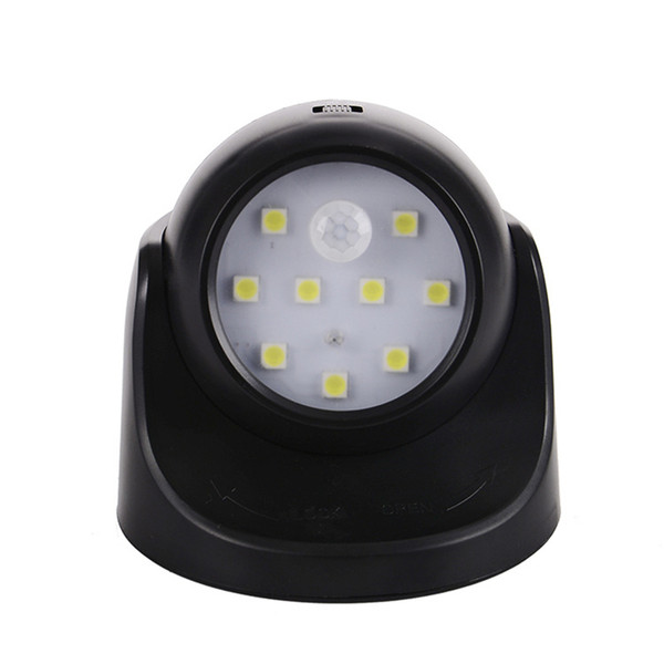 Battery Light LED Light Control Human Body Induction Energy Saving Lamp 360 Degree Rotation Automatic Sensor Light