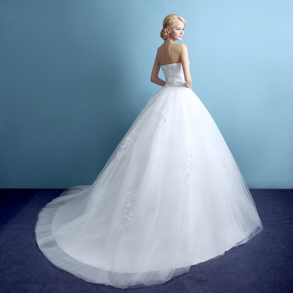 Real Custom Made 2016 Hot Sale 0.8m Court Train Wedding Dress ...