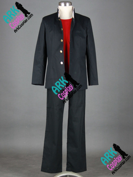Wholesale-High School Of The Dead Komuro Takashi Cosplay Black Mens Japanese School Uniform High School Of The Dead Cosplay Costume