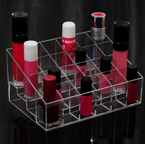 24 Lippenstifthalter Display Ständer Acryl klar Cosmetic Organizer Make-up Fall Diverse Lagerung Make-up Veranstalter Rack Halter KKA2379