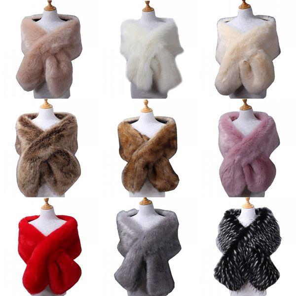 best selling Winter Wedding Coat Bridal Faux Fur Wraps Warm Stick shawls Outerwear Bridesmaid Black Gary White Shrug Women Jacket Prom Evening